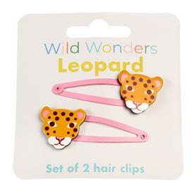 rexlondon haarspeldjes luipaard / leopard set van 2 stuks.