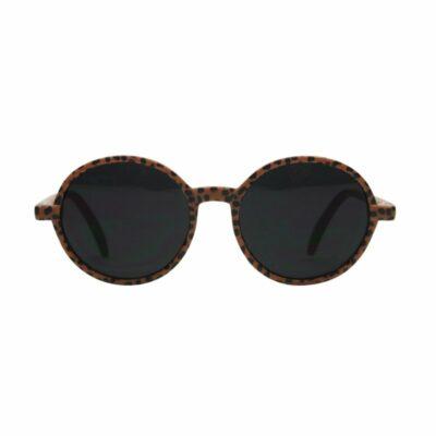 vanpauline zonnebril rond caramel spots junior