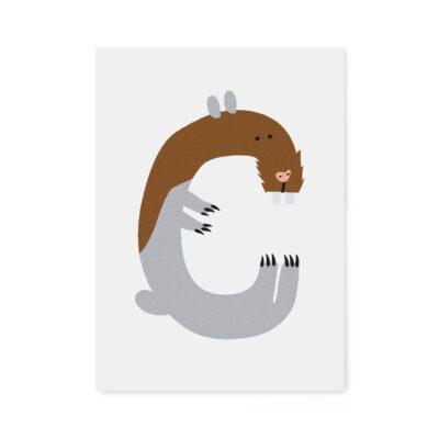 abc-letterkaart C