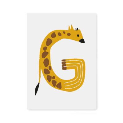 abc-letterkaart G