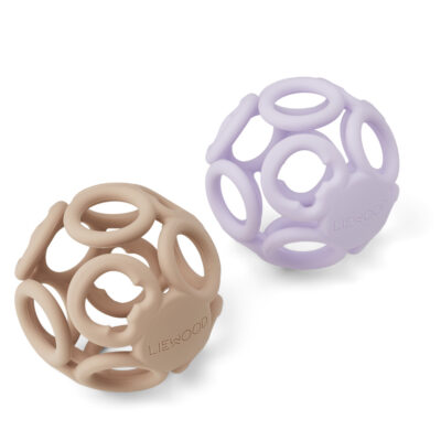 LW12943 - Jasmin teether ball - 2 pack - 9417 Light lavender rose mix - Extra 0