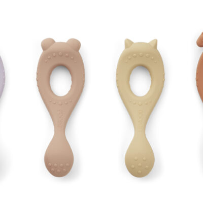 Liewood Liva silicone spoon lavendel multi mix 4-pack