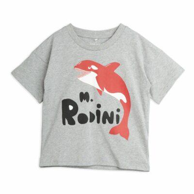 mmini rodini Orca t-shirt grijs melange