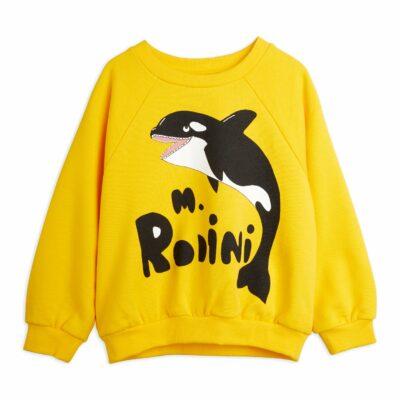Zacht sweatshirt met een grote M.Rodini en orka print op de voorzijde. Het ontwerp heeft slightly dropped shoulders en een relaxte fit, boorden van rib. Gemaakt van 100 % GOTS-certified organic cotton. Too cool!!