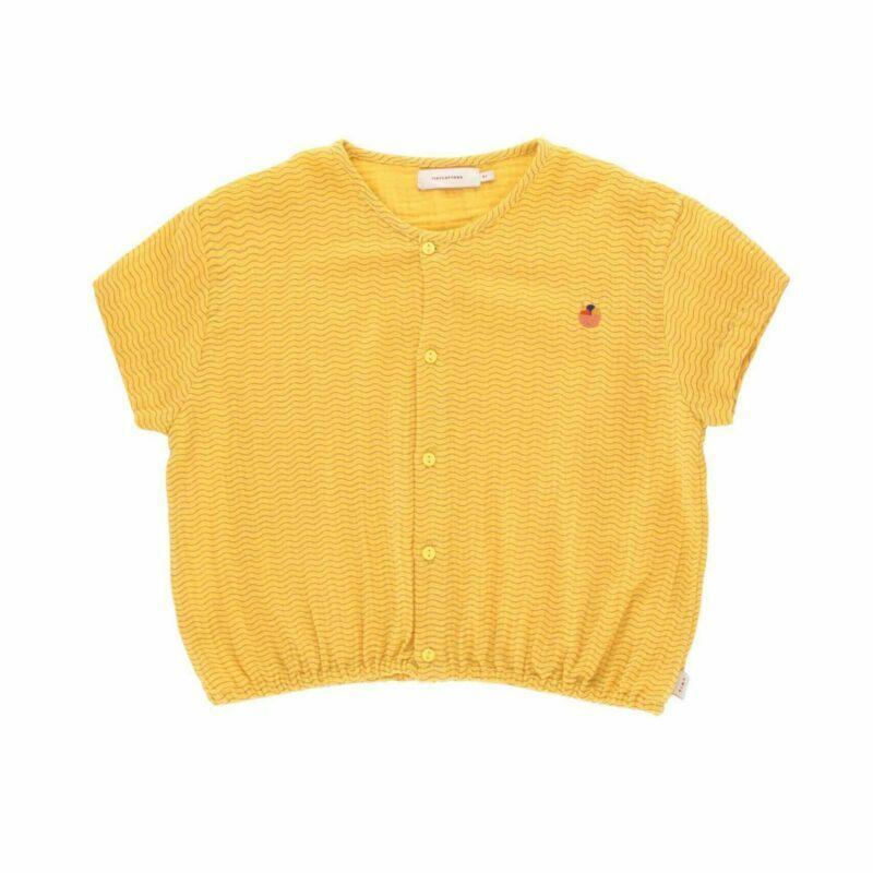 tiny cottons waves crop shirt. Zomershirt.
