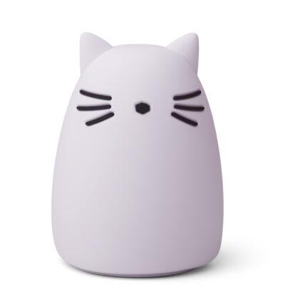 liewood winston nightlight cat lavender