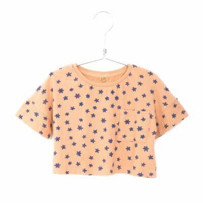 lötiekids bambula crop t-shirt zalm