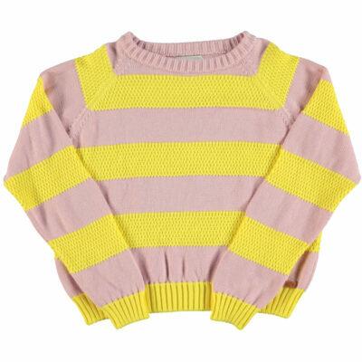 piupiuchickunisex knitted trui roze/geel